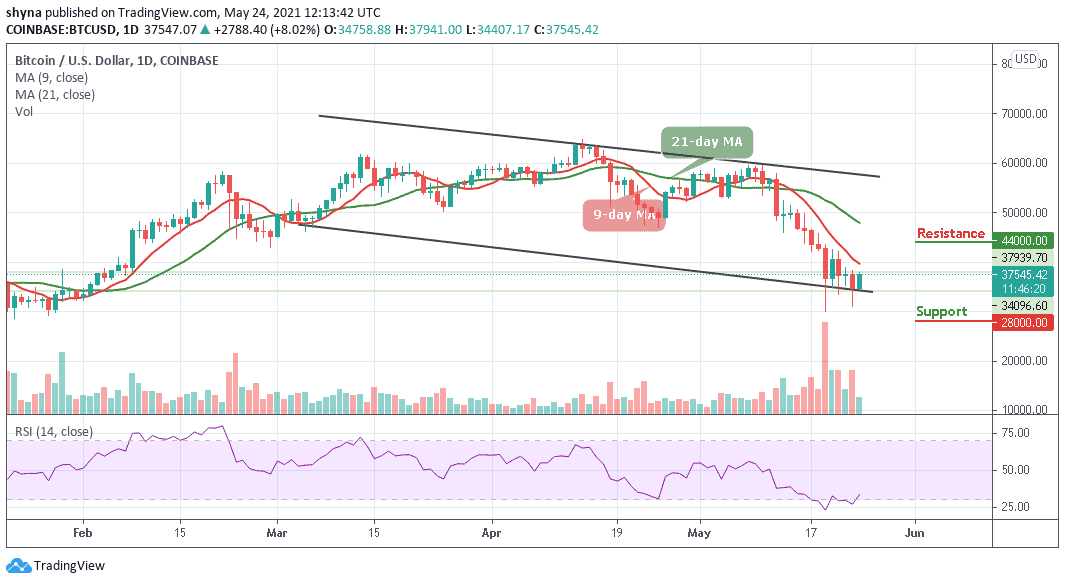 You are currently viewing Bitcoin Price Prediction: BTC/USD Recovers Above $35,000