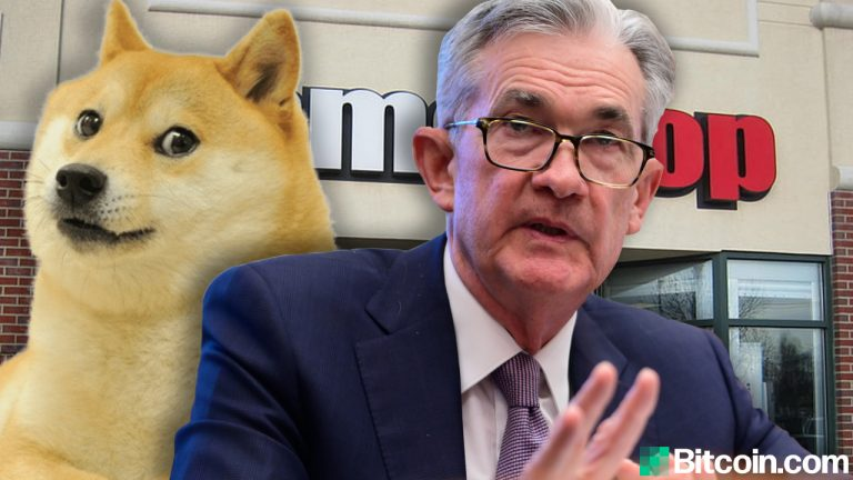 You are currently viewing Fed Chair Jerome Powell Says Dogecoin and Gamestop Hype Highlights 'Froth in Equity Markets'