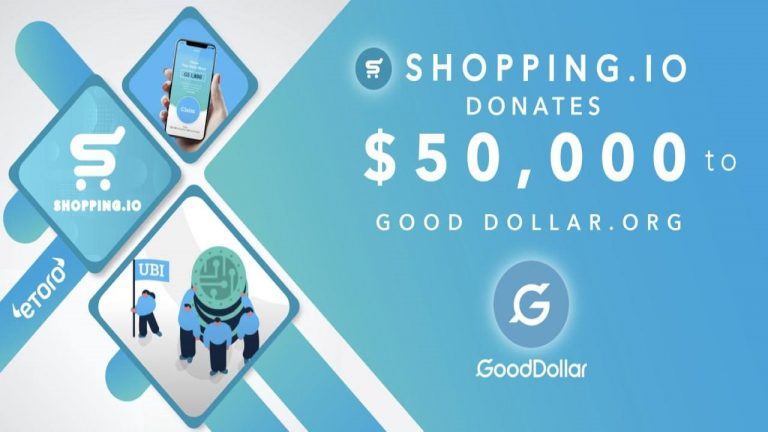 You are currently viewing Crypto E-Commerce Giant Shopping.io Supports eToro Social Impact Non-Profit, GoodDollar