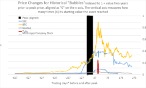 Read more about the article Bitcoin Versus The Great Financial Bubbles Of The Past
