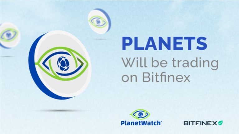 You are currently viewing PlanetWatch Announces the Listing of the PLANETS Token on Bitfinex Exchange