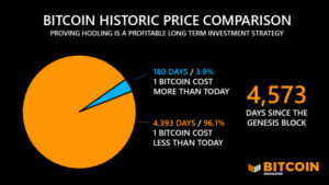 Read more about the article Bitcoin Has Been Profitable For 96% Of Its Life