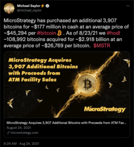 Read more about the article Michael Saylor's MicroStrategy Buys 3,907 More Bitcoin as Total Investment Nears $3 Billion