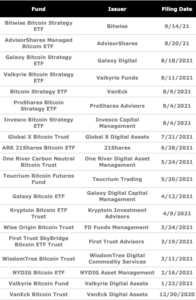 Read more about the article The US SEC currently has 19 pending Bitcoin ETF applications