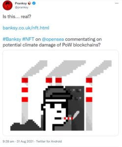 Read more about the article Fake Banksy NFT sells for £244,000. Let's talk about NFT vulnerabilities.