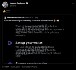 Read more about the article Twitter Product Lead Confirms Bitcoin Lightning Beta Test
