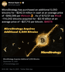 Read more about the article Michael Saylor's MicroStrategy Buys 5,050 More Bitcoin As Total Investment Exceeds $3.1 Billion